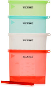 EcoLifeMate silicone food storage bags